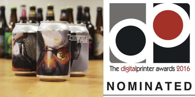 Label on cans nominated for awards
