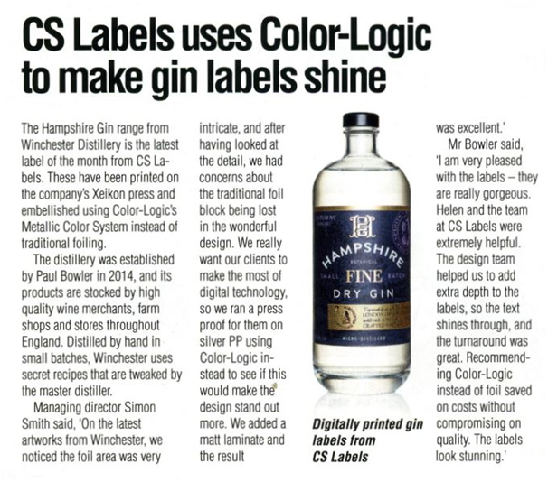 Colour logic gin labels articles