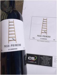 Paso-Primero Wine label