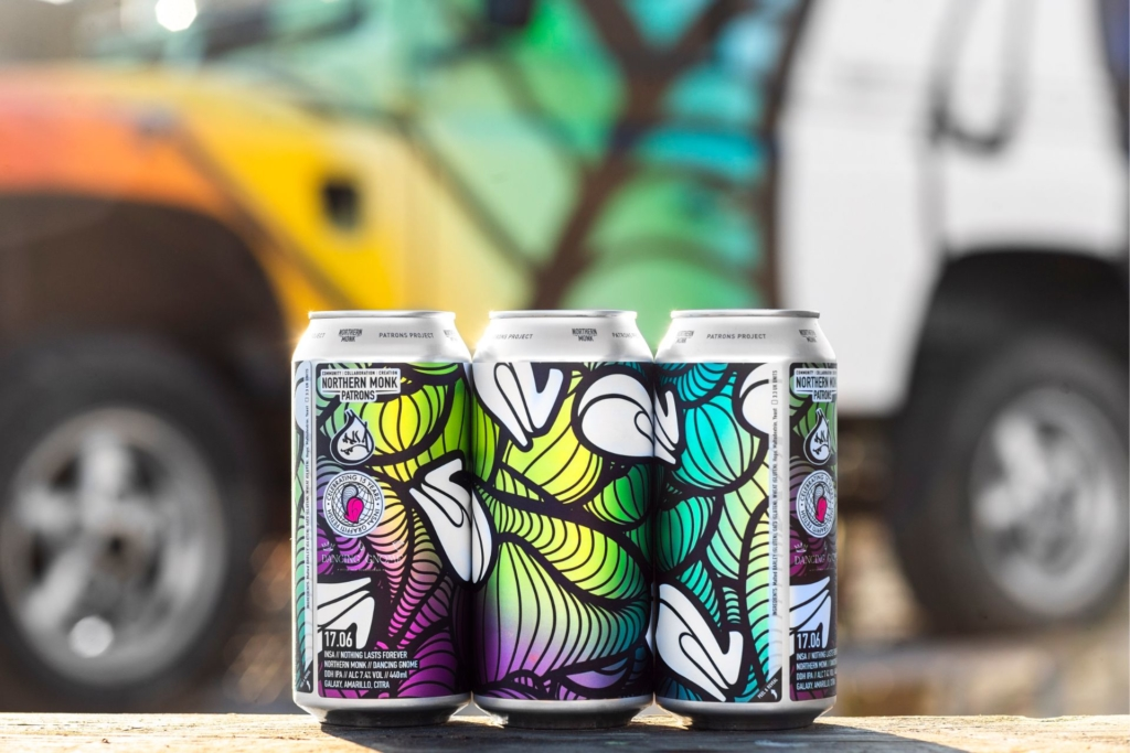 Patterned labels on cans