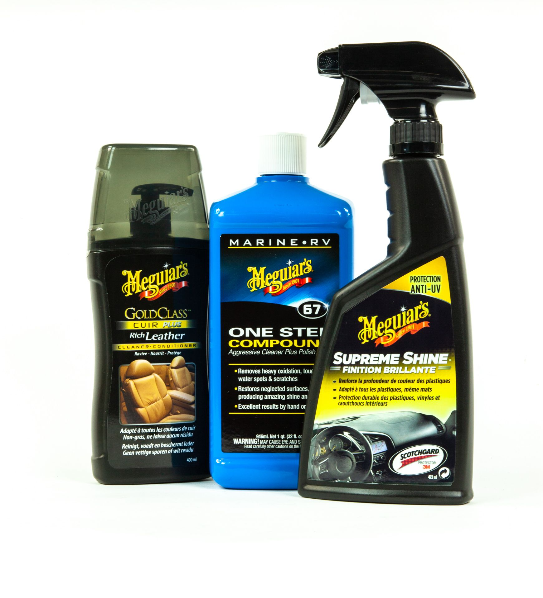 Labelled car care products