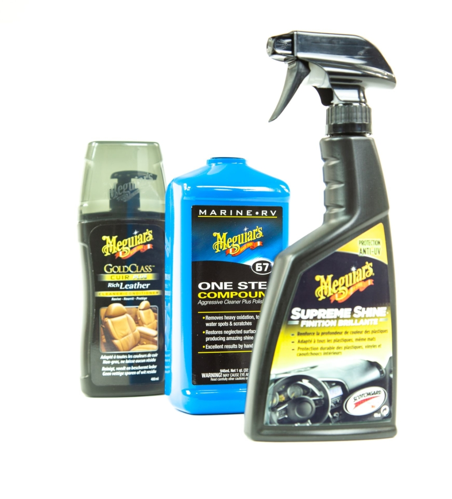 Car care products labelled