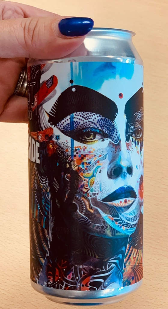bottle with face label