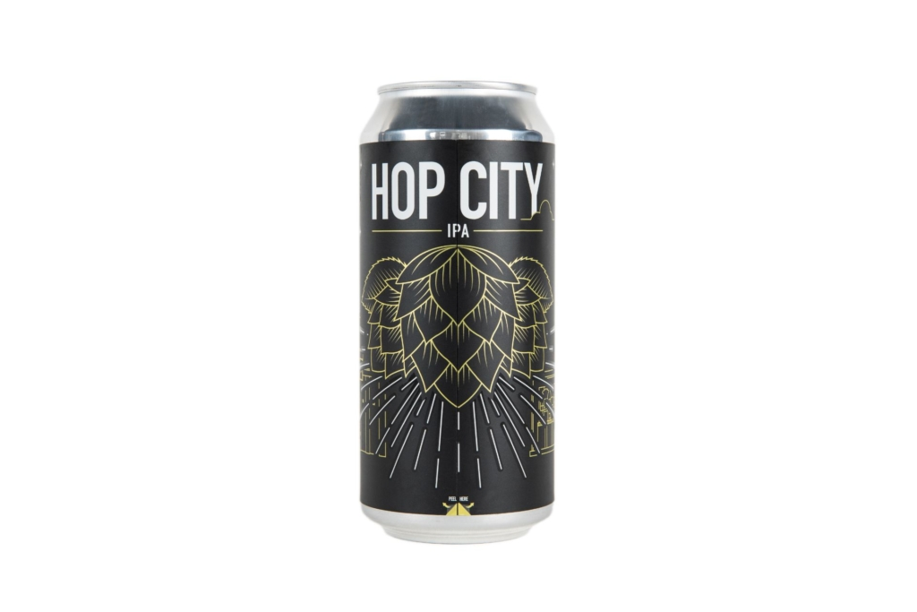 Hop City labelled can