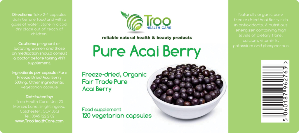 Pure Acal Berry Label