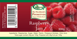Raspberry Jam Label