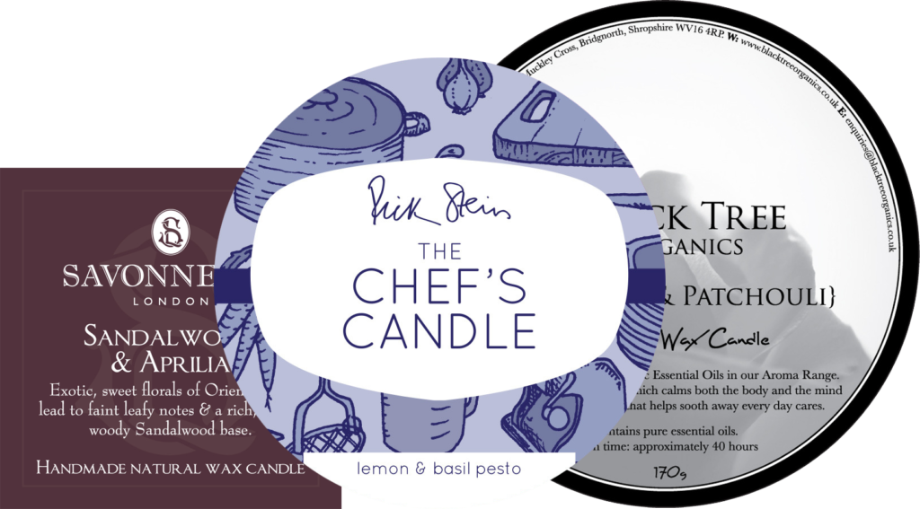 Candle labels