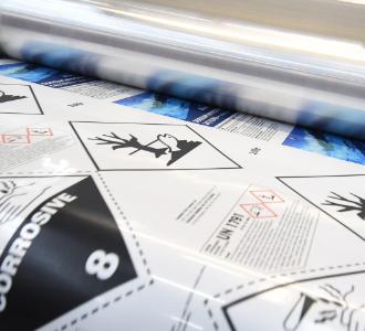 Digital printed labels