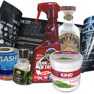 A range of label examples - Trade Labels